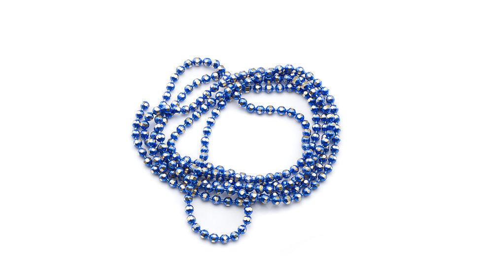 Chaîne boule électro 1,5mm Bleu Foncé x 10 cm
