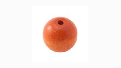 Perle Bois Ronde 8 mm Orange x 10 pièces