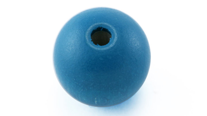 Perle Bois Ronde 10 mm Turquoise Vif