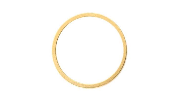 Anneau fin métal doré 15mm