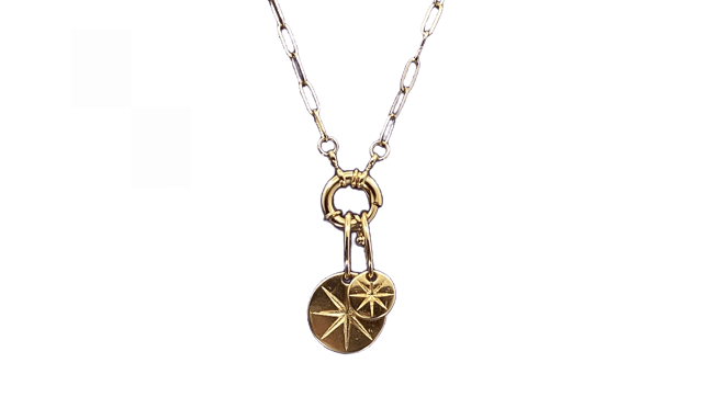 Collier  soleil Chaine 40 cms Or blow bijoux