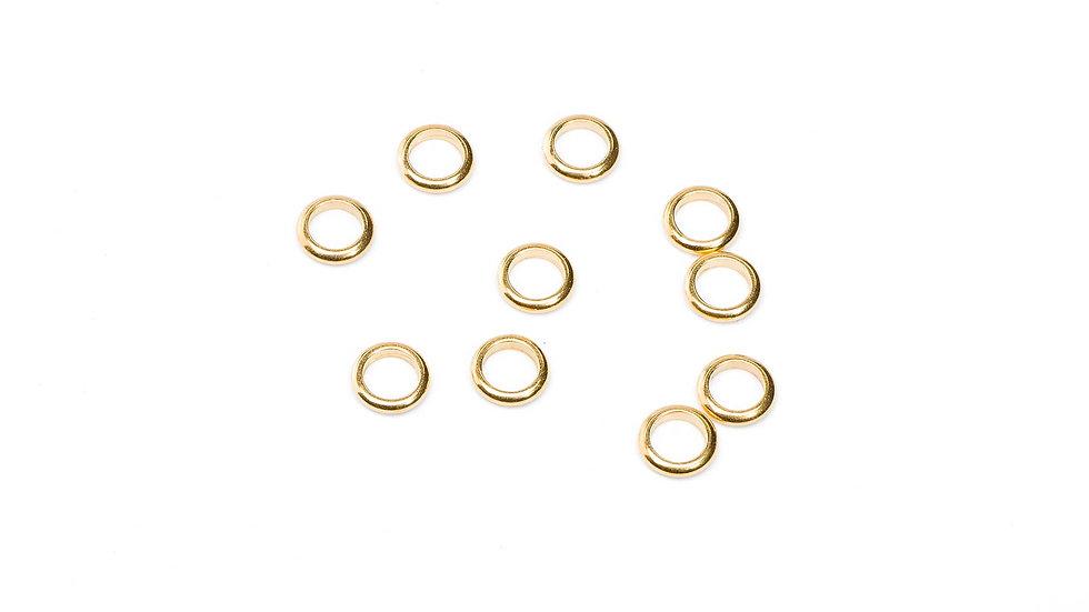 Anneaux en métal laiton 6/1,2mm doré x10 pièces