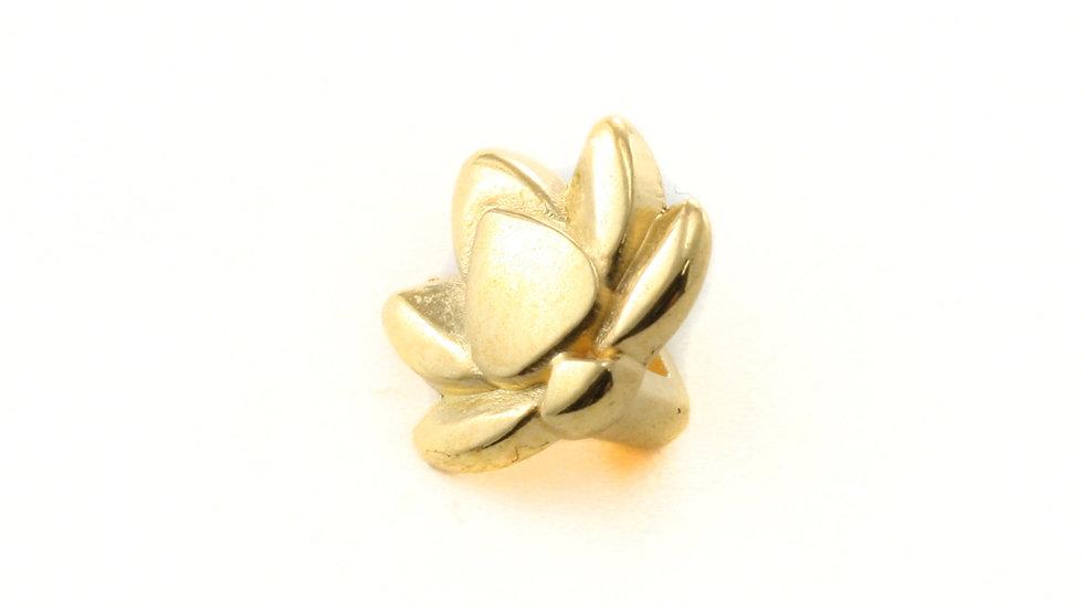 Passant Lotus pour cuir plat 5mm 10x9mm x 1pièce