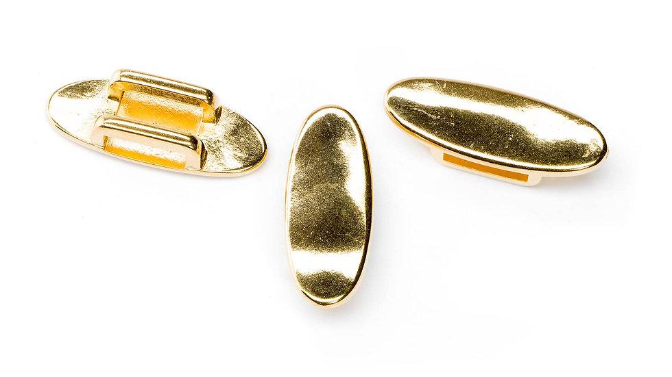 Passant pour cuir plat 10mm ovale 11x27mm doré x1pc