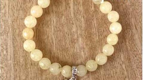 Bracelet pierres naturelles Agate Jaune