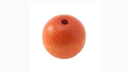 Perle Bois Ronde 10 mm Orange