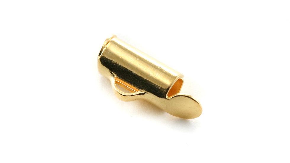 Embout tube métal Doré 4x9.2mm