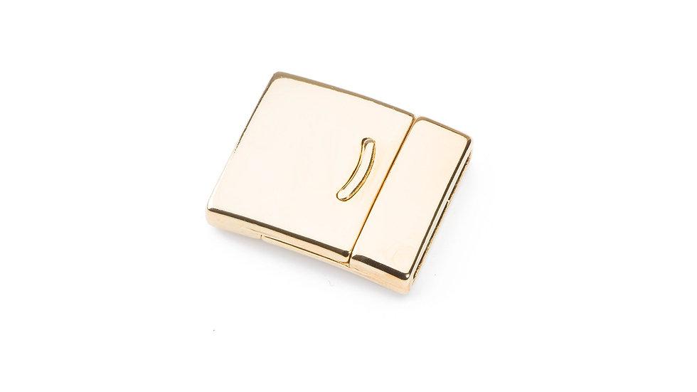 Fermoir magnétique 27x23mm pour cuir plat 20mm doré