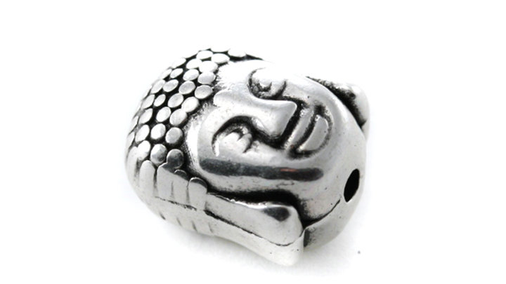 Perle Tête Bouddha métal