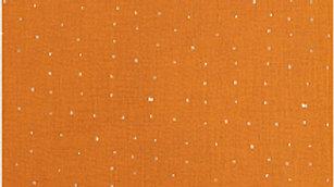 MOUSSELINE FROISSEE MARRON, HOT FOIL x10cm