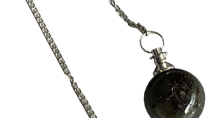 Pendule sphère Labradorite 4cm