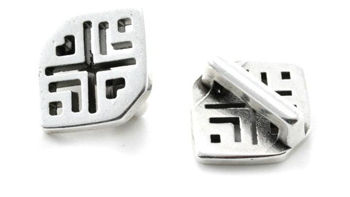 Passant Rhombus losange 18x14mm pour cuir plat 10mm x1pc