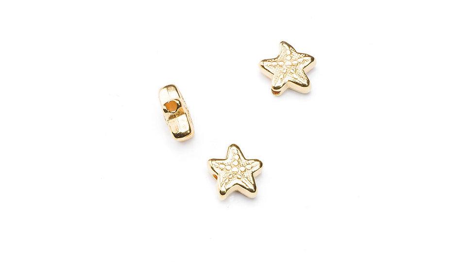 Perle étoile de mer 5/10mm doré