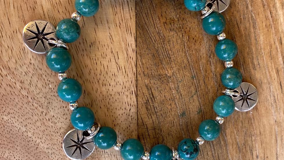 Bracelet élastique Stella Turquoise Vert