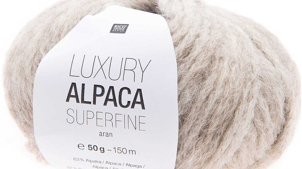 LUXURY ALPACA SUPERFINE aran Ecru