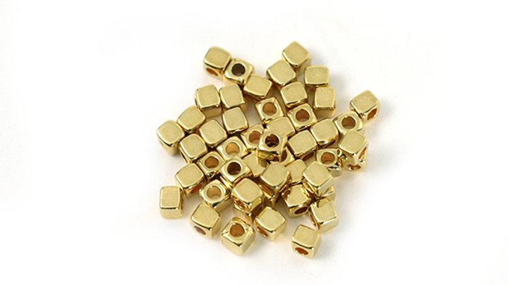 Cube métal doré