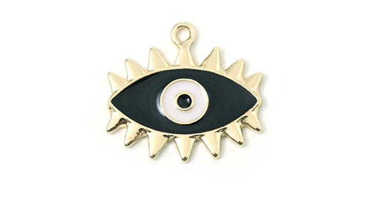 Oeil métal émaillé 23x18mm Noir