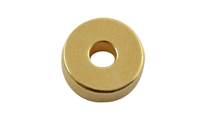 Rondelle métal doré 6x2mm