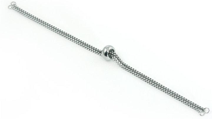 Chaîne Acier Inoxydable ouverte 105x1mm+ stoppeuse 7mm