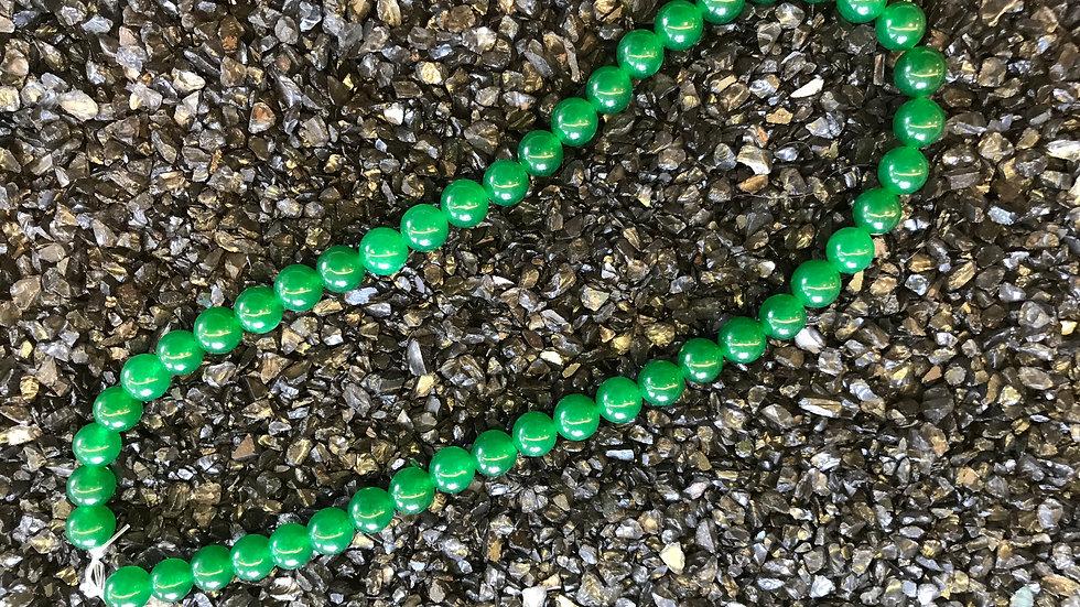 Jade Verte 8mm sur fil 40 cm
