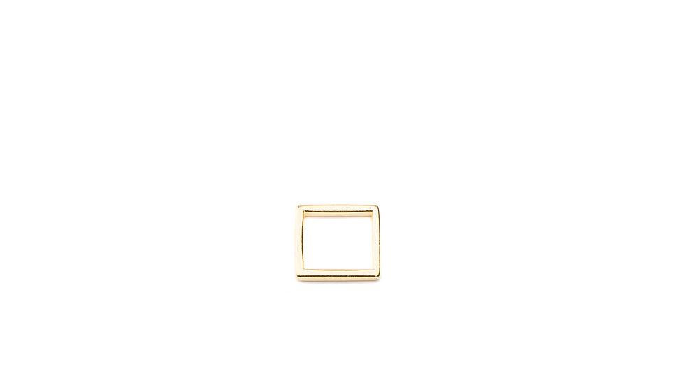 Connecteur intercalaire mini carré 11mm doré
