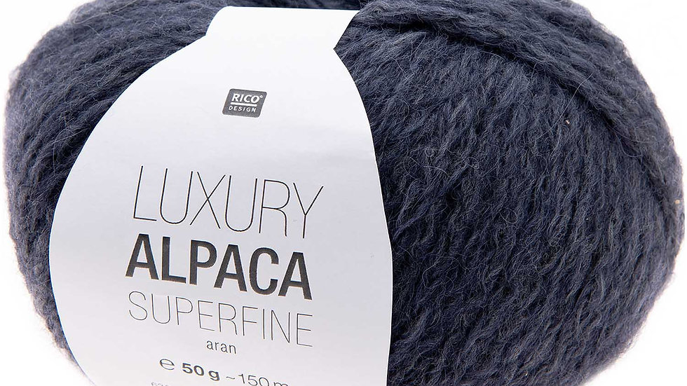 LUXURY ALPACA SUPERFINE aran Bleu