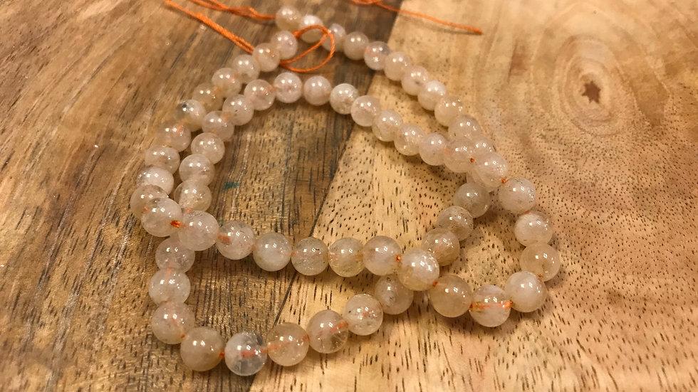 Citrine Naturelle perles 6mm sur fil 40cm