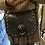 Thumbnail: Sac en cuir tressé et clouté noir Charlay Stone
