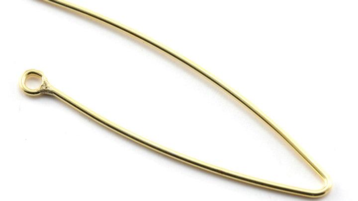 B.O. harpon+ anneau ouvert métal 44x14mm Doré x 2 pièces