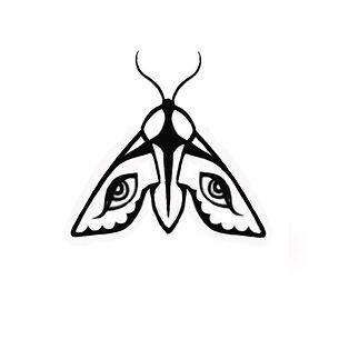 noční motýl tetování