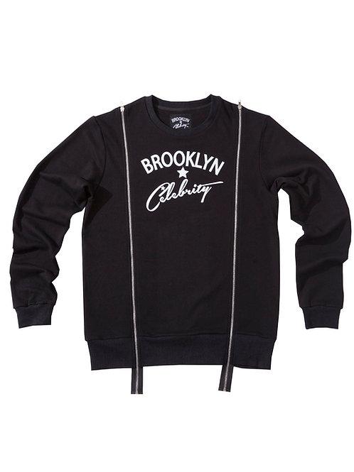 Double Zipper Sweater BLACK