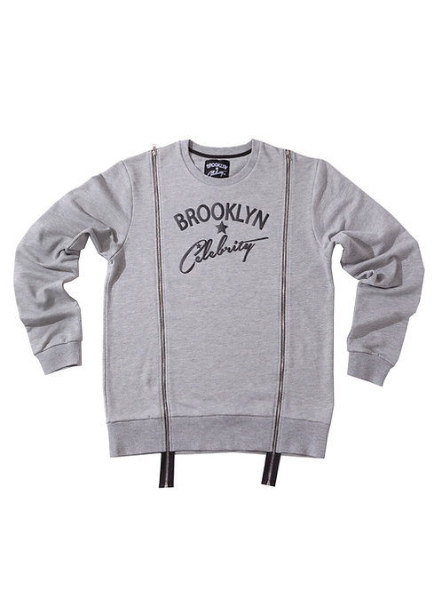 Double Zipper Sweater GREY