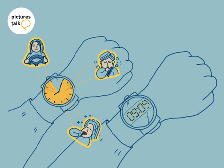Space-Time-Content ข้อแตกต่างระหว่างนาฬิกาอะนาล็อกกับนาฬิกาดิจิตัล