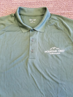Website Embroidery Polo (Mtn Crest)