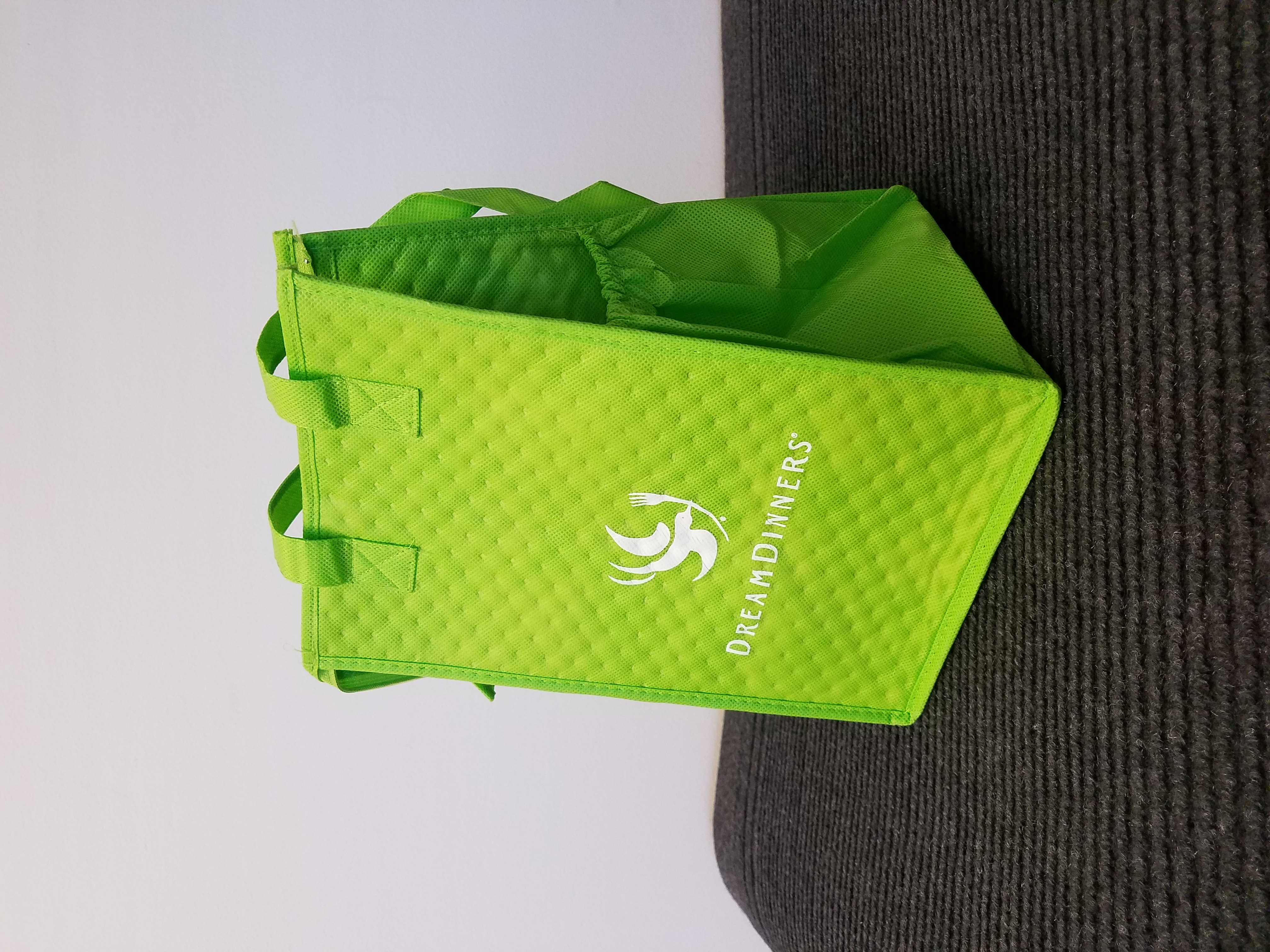 Website Tote Bag Image (DreamDinners Light Green Thermal)