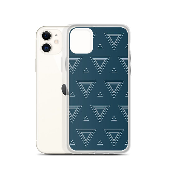 iPhone Case Blue Triangles