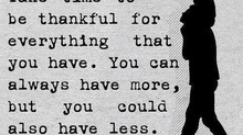 Things go-getters take for granted!? #ThanksGivingDay