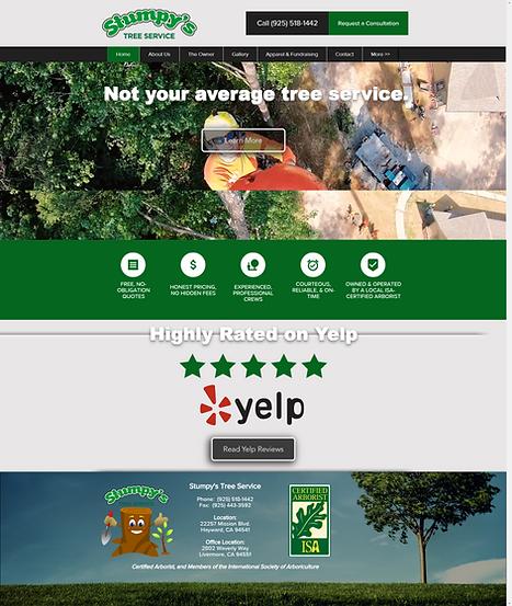 Stumpy's Tree Service Website | Web Design & SEO Digital Marketing