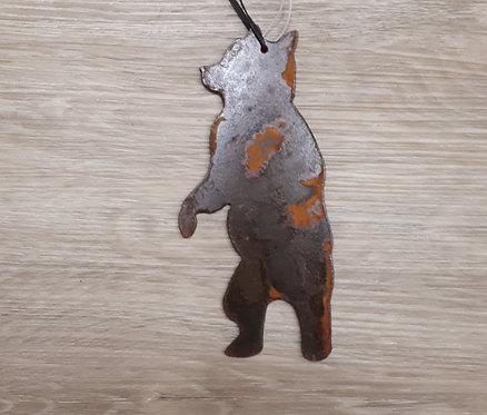 Metal Ornament - Black Bear Standing