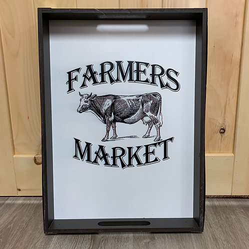 Farmers Market Tray/Sign
