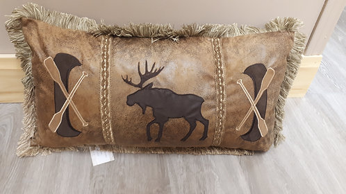 Canoe & Moose Pillow