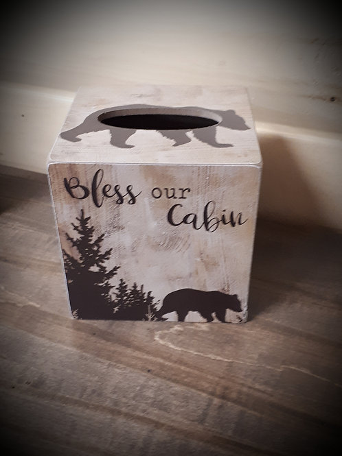 Wood Bless our Cabin Tissue