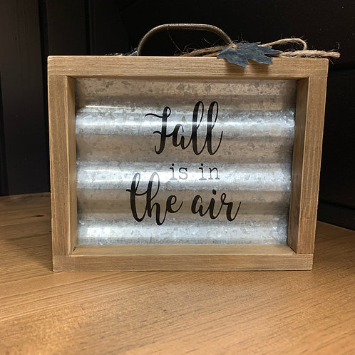 Fall Is In The Air Tin Box Sign