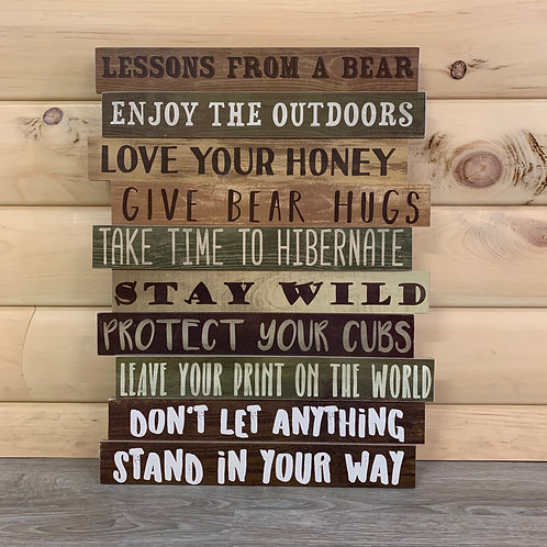 Lessons From A Bear Sign