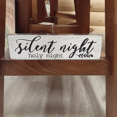 Silent Night Holy Night Wood Sign - Small
