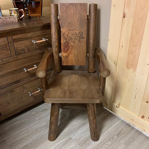 Branded Moose Log Arm Chair