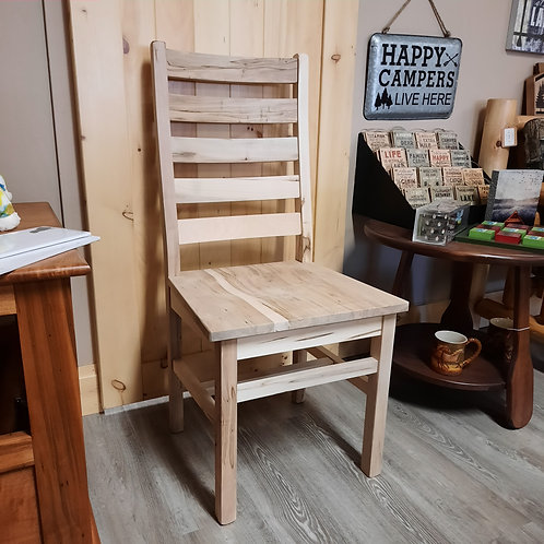 Wormy Maple Ladder Back Chair