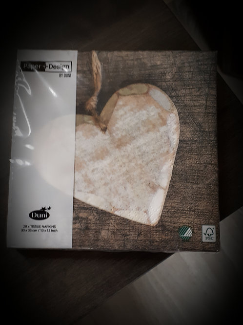 Wooden Heart Napkin