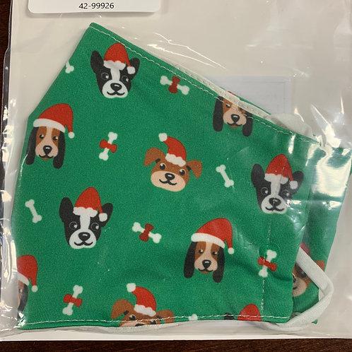Santa Dog Reusable Mask - ADULT SIZE