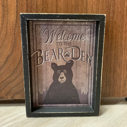 Bear Den Table Sign